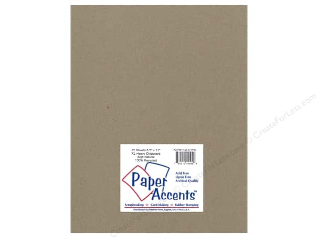 Paper Accents Chipboard 8 1/2 x 11 in. 32 pt. XL Heavy Natural (25 sheets)