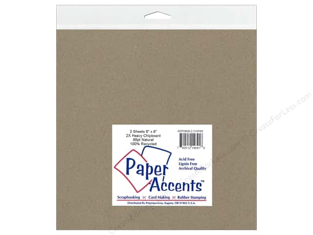 Paper Accents Chipboard 8 x 8 in. 85 pt. 2X Heavy Natural 2 pc.