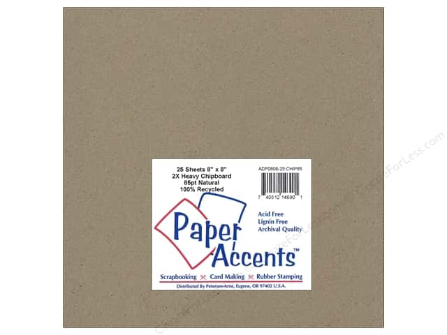 Paper Accents Chipboard 8 x 8 in. 85 pt. 2X Heavy Natural (25 pieces)
