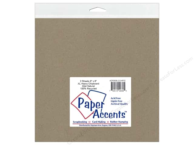 Paper Accents Chipboard 8 x 8 in. 32 pt. XL Heavy Natural 2 pc.