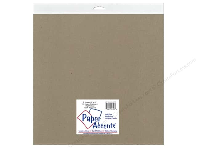 Paper Accents Chipboard 12 x 12 in. 85 pt. 2X Heavy Natural 2 pc.