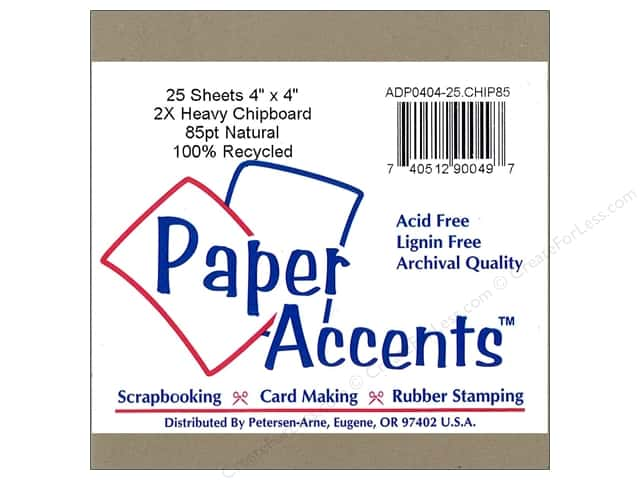 Paper Accents Chipboard 4 x 4 in. 85 pt. 2X Heavy Natural (25 pieces)