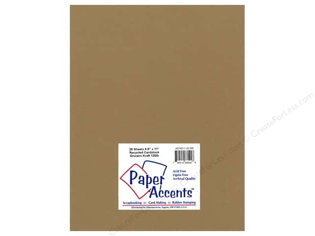 Paper Accents Cardstock 8 1/2 x 11 in. #368 Recycled Grocers Kraft - 120 lb. (25 sheets)