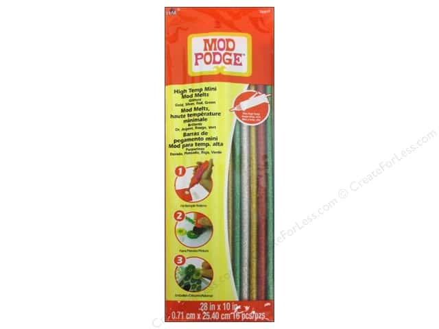 Plaid Mod Podge Tools Mod Melts 16pc Glitters