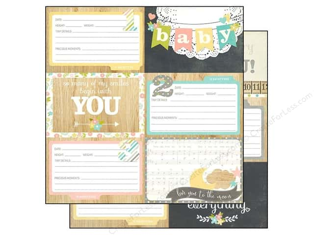 Simple Stories 12 x 12 in. Paper Hello Baby Journal Elements #1 (25 sheets)