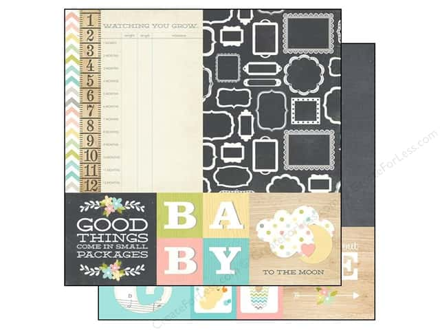 Simple Stories 12 x 12 in. Paper Hello Baby Quotes & Mats (25 sheets)