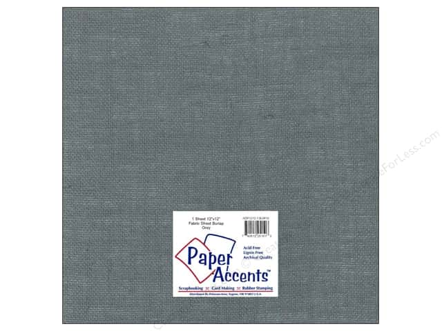 Fabric Sheet 12 x 12 in. by Paper Accents Burlap Grey