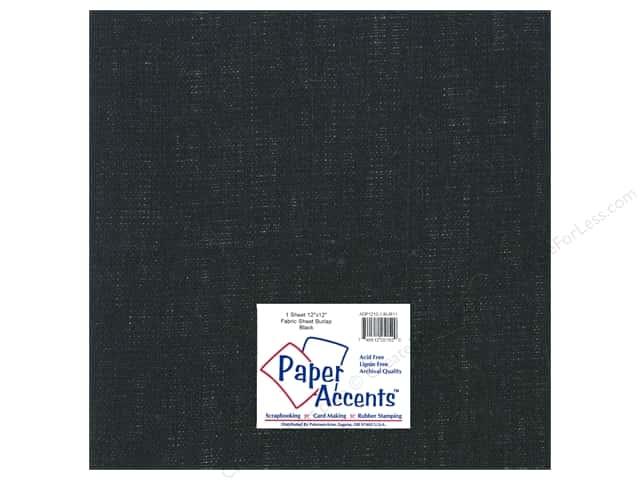 Fabric Sheet 12 x 12 in. by Paper Accents Burlap Black