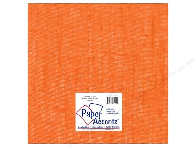 Fabric Sheet 12 x 12 in. by Paper Accents Burlap Orange
