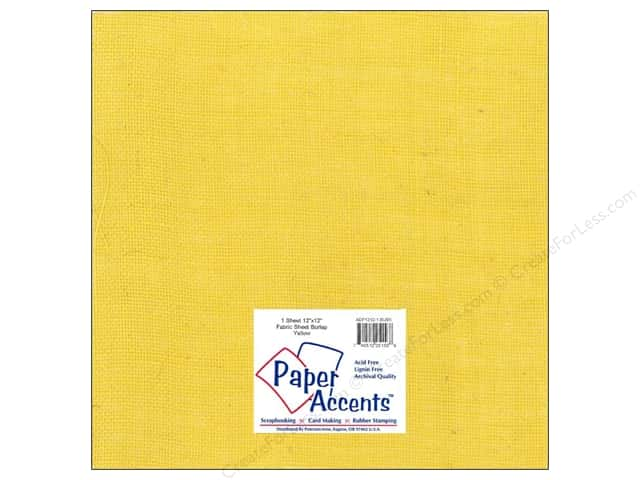 Fabric Sheet 12 x 12 in. by Paper Accents Burlap Yellow