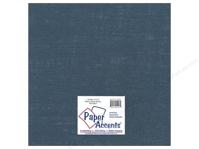 Fabric Sheet 12 x 12 in. by Paper Accents Burlap Dark Blue