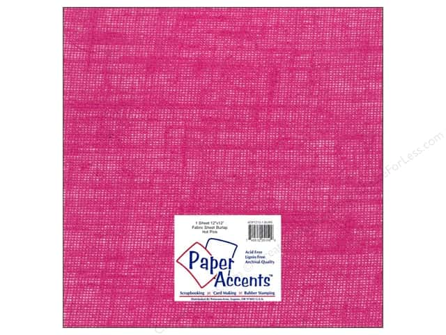 Fabric Sheet 12 x 12 in. by Paper Accents Burlap Hot Pink