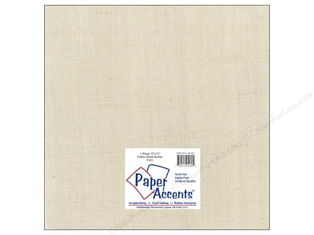 Fabric Sheet 12 x 12 in. by Paper Accents Burlap Ivory