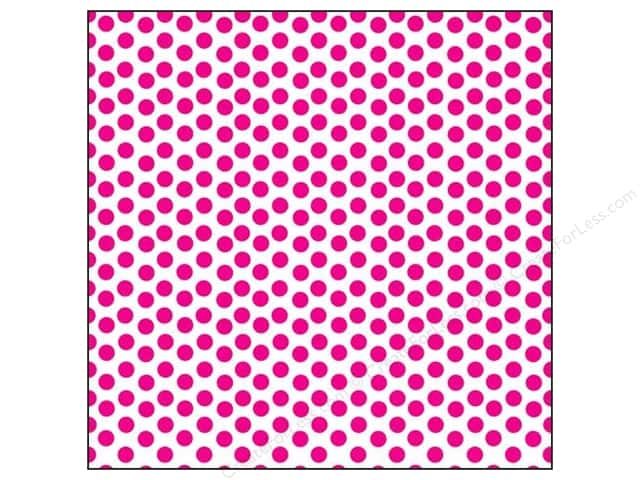 Canvas Corp 12 x 12 in. Paper Hot Pink & White Dot (15 sheets)