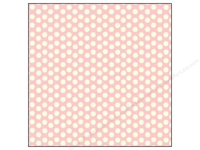 Canvas Corp 12 x 12 in. Paper Pink & Ivory Dot Reverse (15 sheets)