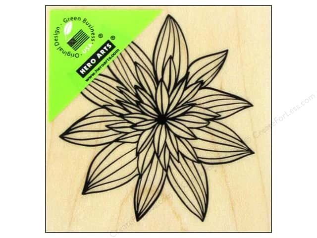 Hero Arts Rubber Stamp Night Flower