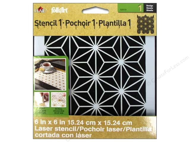 Plaid Stencil Designer Star Pattern
