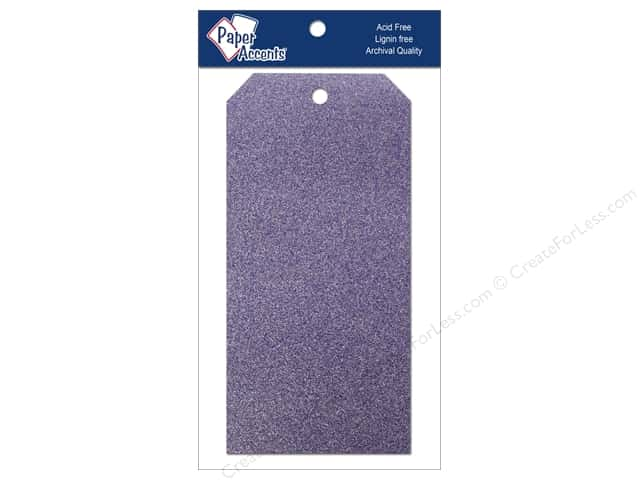 Craft Tags by Paper Accents 3 1/8 x 6 1/4 in. 10 pc. Glitz Violet
