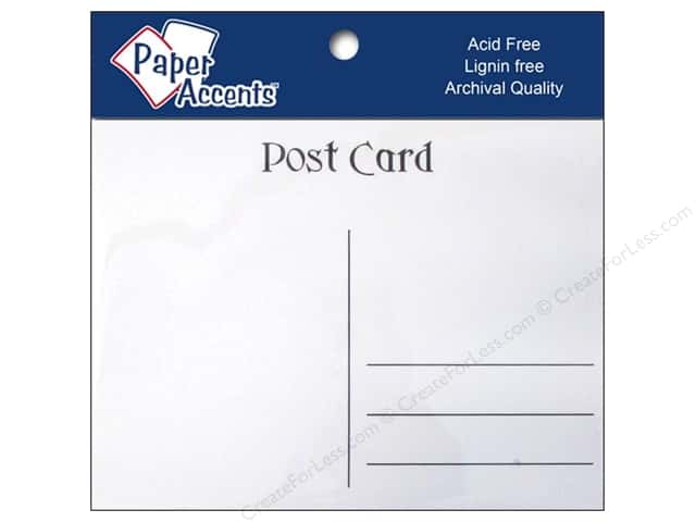 Post Cards by Paper Accents 4 1/4 x 5 1/2 in. White 25 pc.