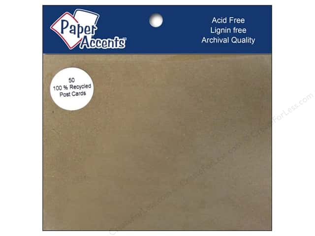 Post Cards by Paper Accents  4 1/4 x 5 1/2 in. Blank 50 pc. Brown Bag