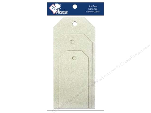 Craft Tags by Paper Accents Assorted 10 pc. Glitz Champagne