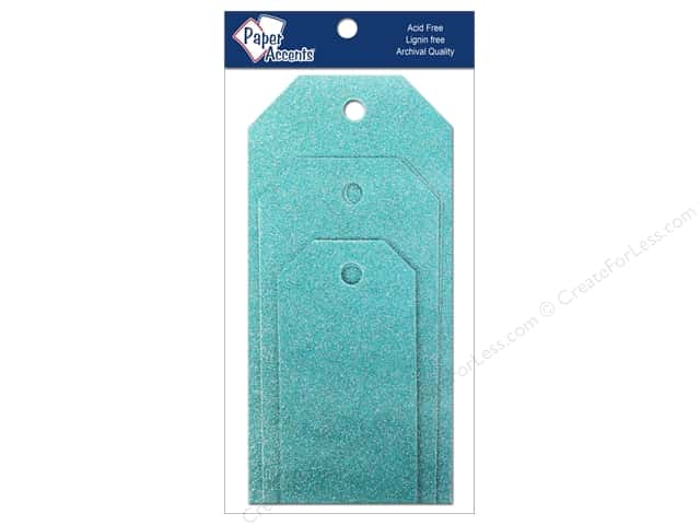 Craft Tags by Paper Accents Assorted 10 pc. Glitz Blue Sky