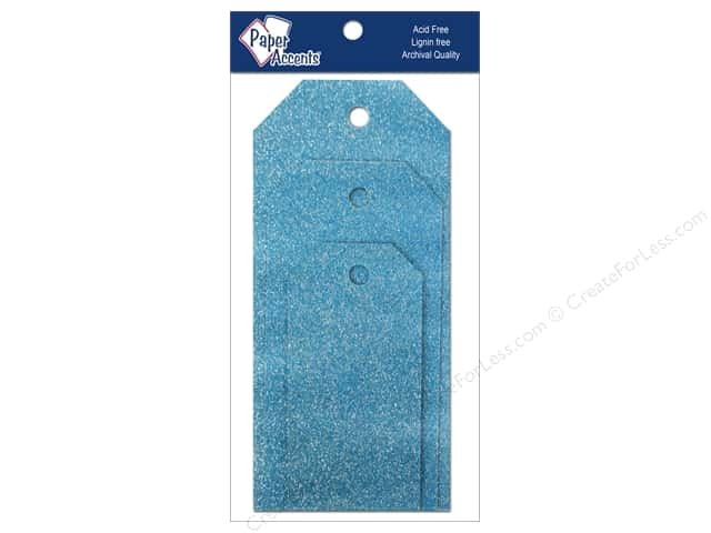 Craft Tags by Paper Accents Assorted 10 pc. Glitz Malibu