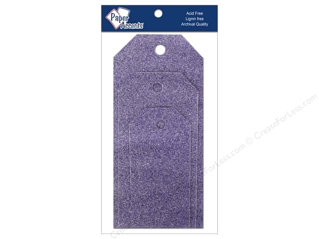 Craft Tags by Paper Accents Assorted 10 pc. Glitz Violet