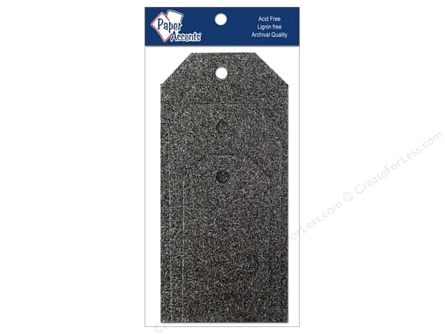 Craft Tags by Paper Accents Assorted 10 pc. Glitz Midnight