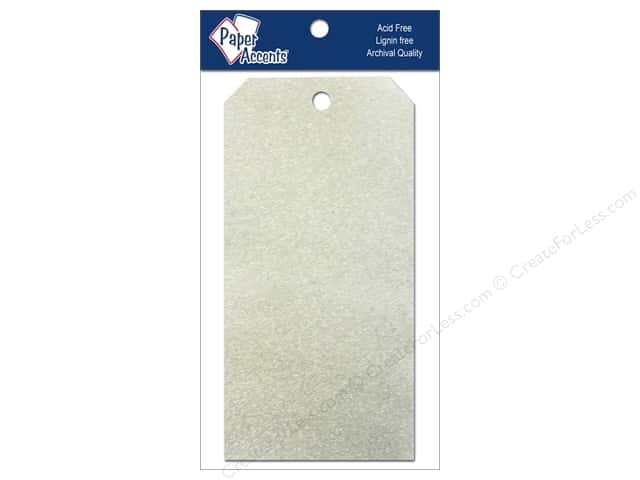 Craft Tags by Paper Accents 3 1/8 x 6 1/4 in. 10 pc. Glitz Champagne