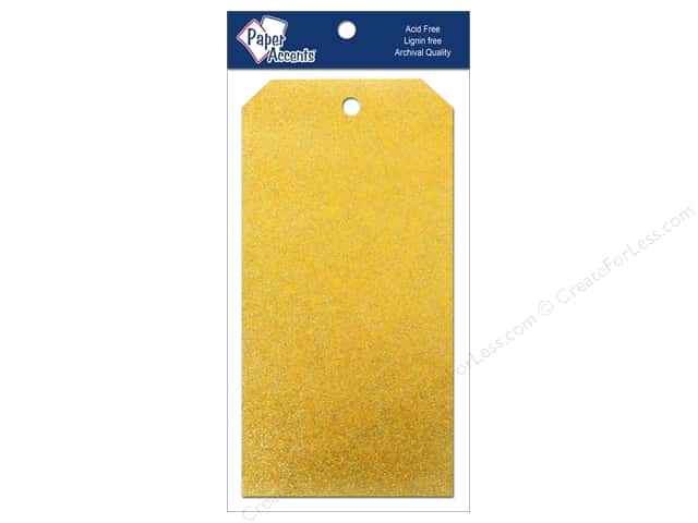 Craft Tags by Paper Accents 3 1/8 x 6 1/4 in.10 pc. Glitz Daffodil