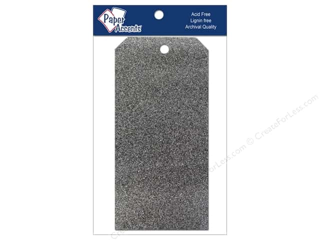 Craft Tags by Paper Accents 3 1/8 x 6 1/4 in. 10 pc. Glitz Midnight