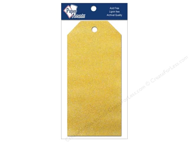 Craft Tags by Paper Accents 2 1/2 x 5 1/4 in. 10 pc. Glitz Daffodil