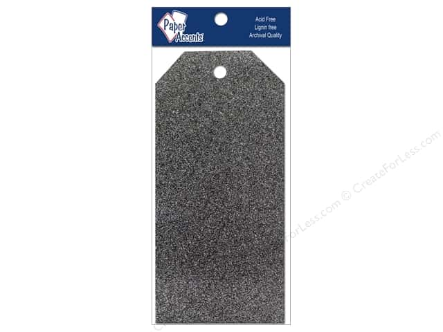 Craft Tags by Paper Accents 2 1/2 x 5 1/4 in. 10 pc. Glitz Midnight