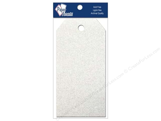 Craft Tags by Paper Accents 2 1/8 x 4 1/4 in. 10 pc. Glitz Fairy Dust