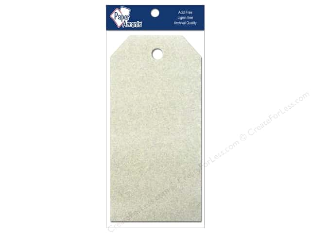 Craft Tags by Paper Accents 2 1/8 x 4 1/4 in. 10 pc. Glitz Champagne
