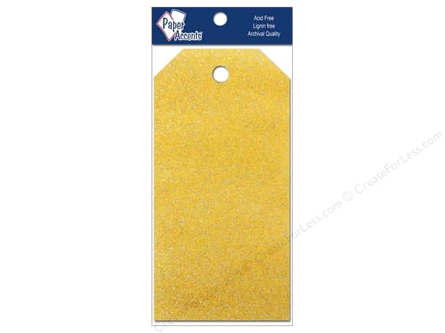 Craft Tags by Paper Accents 2 1/8 x 4 1/4 in. 10 pc. Glitz Daffodil