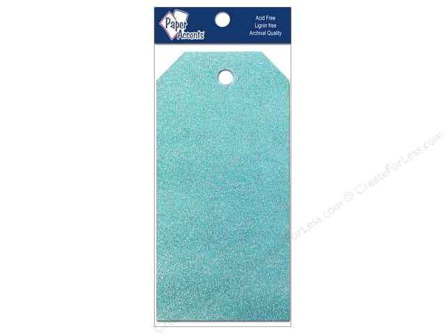 Craft Tags by Paper Accents 2 1/8 x 4 1/4 in. 10 pc. Glitz Blue Sky