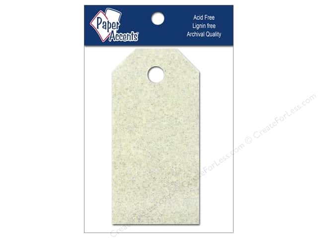 Craft Tags by Paper Accents 7/8 x 1 3/4 in. 10 pc. Glitz Champagne