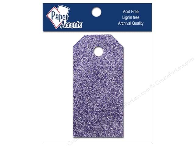 Craft Tags by Paper Accents 7/8 x 1 3/4 in. 10 pc. Glitz Violet