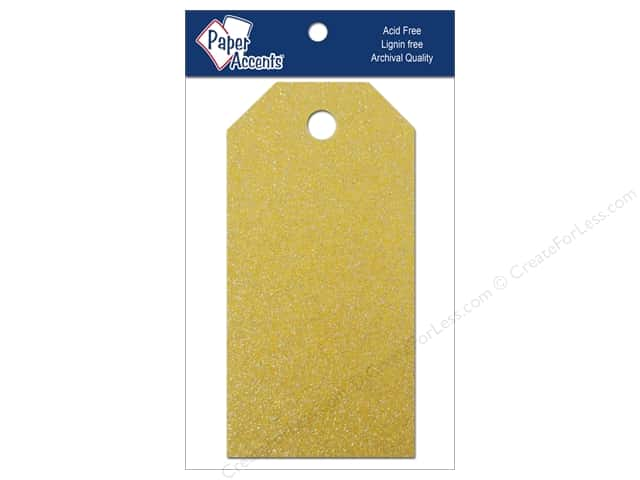 Craft Tags by Paper Accents 1 5/8 x 3 1/4 in. 10 pc. Glitz Daffodil