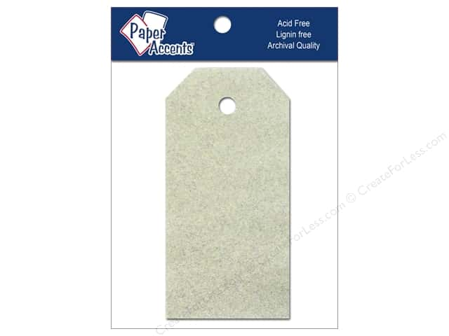 Craft Tags by Paper Accents 1 1/4 x 2 1/2 in. 10 pc. Glitz Champagne