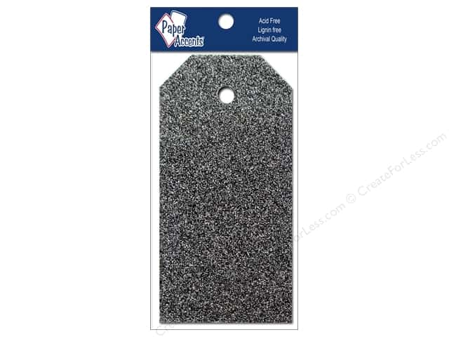Craft Tags by Paper Accents 1 1/4 x 2 1/2 in. 10 pc. Glitz Midnight
