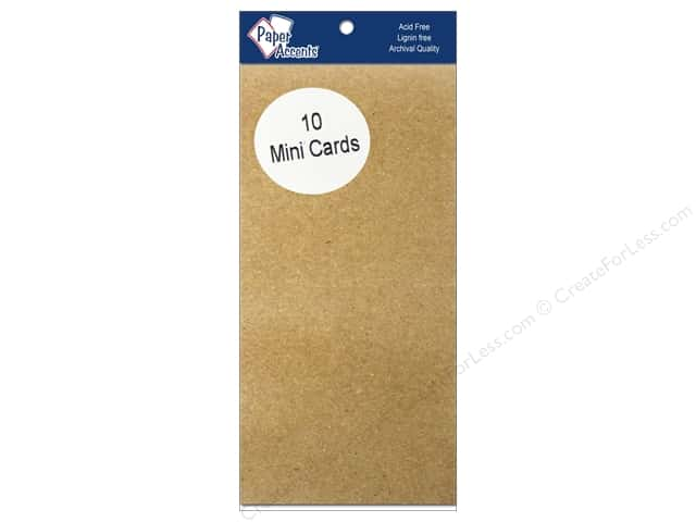 Mini Cards by Paper Accents 2 1/2 x 5 in. Brown Bag 10 pc.