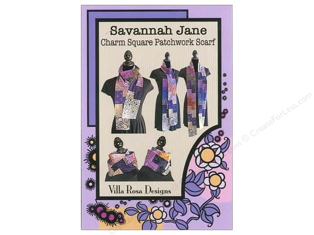 Villa Rosa Designs Savannah Jane Charm Square Scarf Pattern Card
