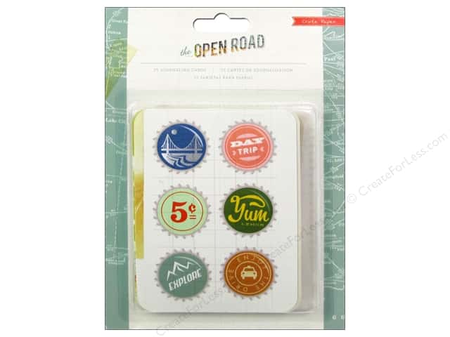 Crate Paper Embellishments Open Road Journaling Cards