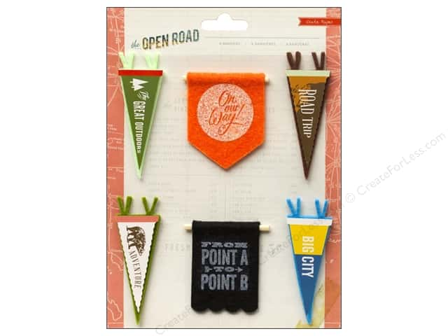 Crate Paper Stickers Open Road Pennants