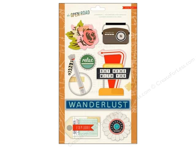 Crate Paper Stickers Open Road Standouts