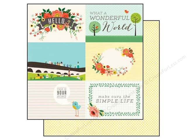 Echo Park 12 x 12 in. Paper Simple Life Collection Wonderful World (25 sheets)