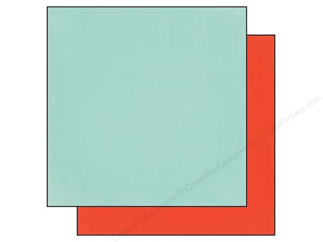 Echo Park 12 x 12 in. Paper Simple Life Collection Light Blue/Red (25 sheets)